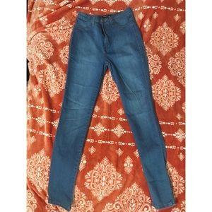 Medium light blue skinny jeans